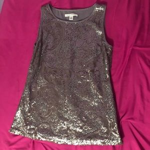Sequined Gray top